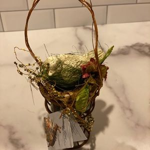 Brand new bird in nesting basket from Bethany Low